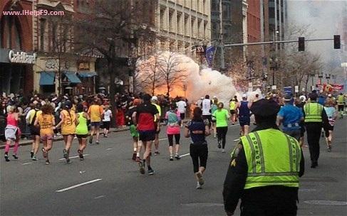 Picture of Bomb Blast in Boston