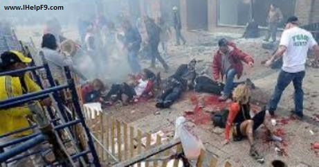 Pictures of Bomb Blast in Boston