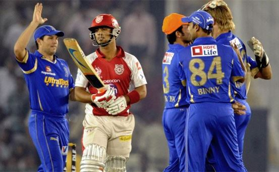 Rajasthan Royal VS Kings XI Punjab