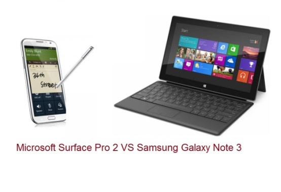 Microsoft Surface Pro 2 VS Samsung Galaxy Note 3