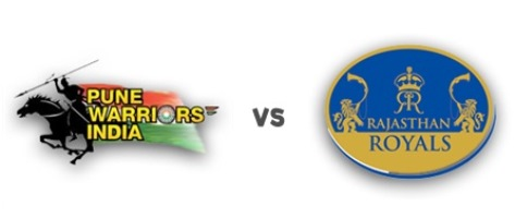 Rajasthan Royal Wins with 05 Wickets against Pune Warriors India