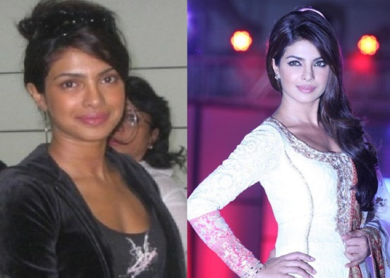 Priyanka Chopra Indian Film Actress With and Without Make