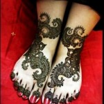 Amazing Foot Mehndi Design 2014