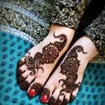 Arabic Foot Mehndi Design 2014