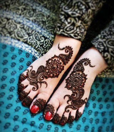 Arabic Foot Mehndi Design 2014