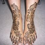 Best Foot Mehndi Design 2014