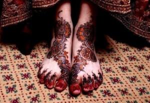 Bridal Foot Mehndi Design 2014