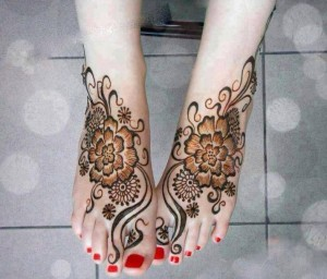 Latest Foot Mehndi designs for 2014
