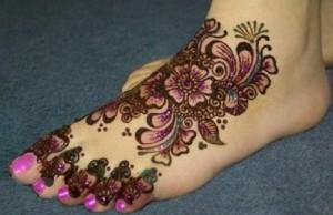Marriage Foot Mehndi Design 2014