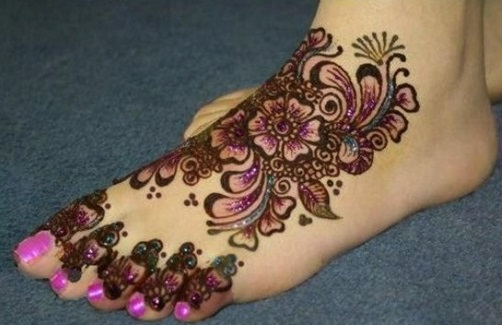 Mehndi Designs For Feet : Latest foot mehndi designs for women