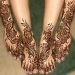 New Foot Mehndi Design 2014