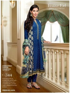 Gul Ahmed Unstitch Festive Eid Collection 2015 for Women