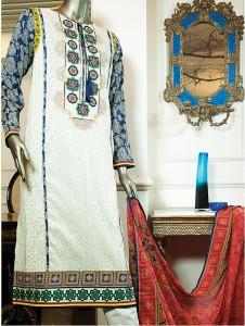 Junaid Jamshed Premium Embroidered Chiffon 2015
